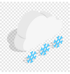cloud and snowflakes isometric icon vector image