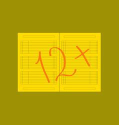 Flat icon on stylish background school journal vector