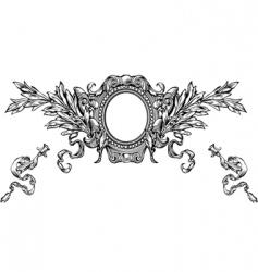 heraldry background vector image vector image