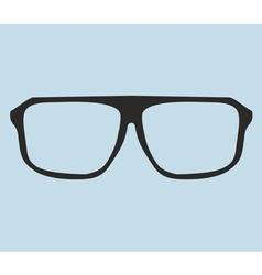 Nerd glasses on blue background vector image vector image