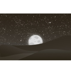 Night moon shining stars on black and vector image vector image
