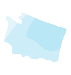 political map of the state of washington vector image