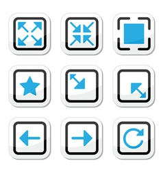 Web page screen size icons set vector image vector image