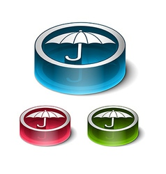 3d glossy safety icon design vector
