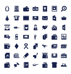 49 card icons vector