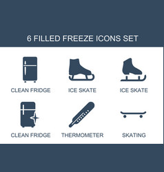 6 freeze icons vector