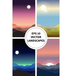 Abstract landscape set vector image