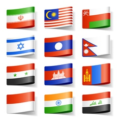 Asia flags vector