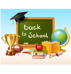 Back to school background with place for text vector image