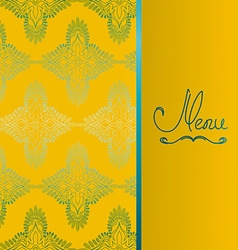 Background with antique pattern vector