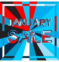 Big ice sale poster with JANUARY SALE text vector image