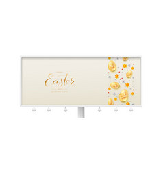 billboard with three-dimensions easter decorative vector image