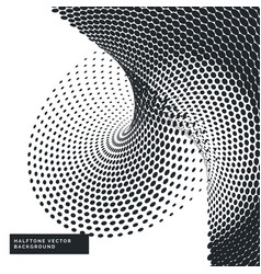 black and white background with halftone dots vector image