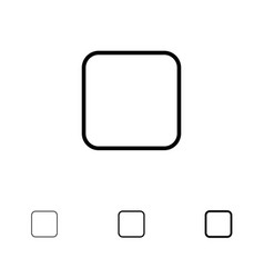 Box checkbox unchecked bold and thin black line vector