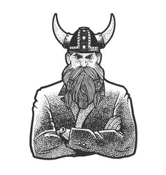 businessman viking sketch vector image