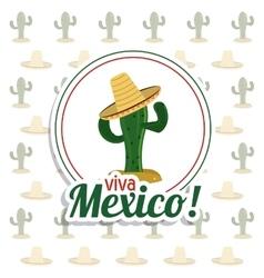 Cactus icon Mexico culture graphic vector