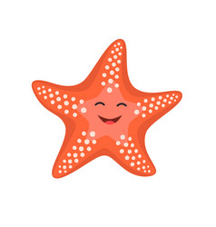 cartoon happy starfish for vector image