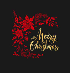 christmas holiday dark design vector image