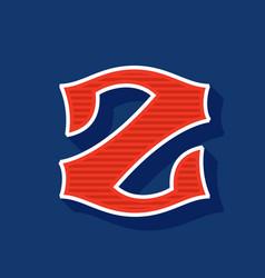 Classic style z letter sport logo vector