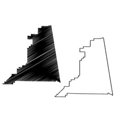 cleburne county alabama counties in alabama vector image