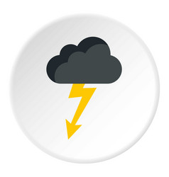 Clouds and storm icon flat style vector