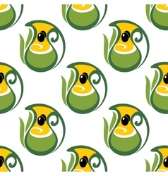 Colorful olive oil seamless pattern vector