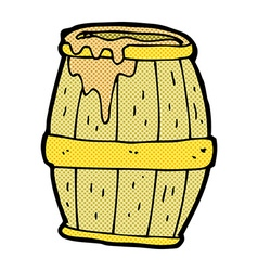 Comic cartoon beer barrel vector