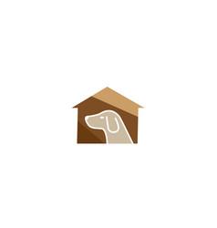 creative pet house logo design symbol vector image