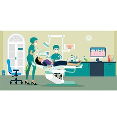 dentist vector image