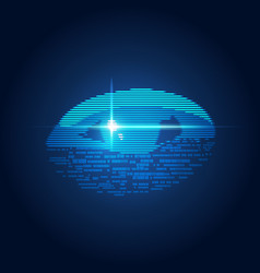 digital eye vector image vector image