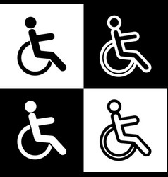 disabled sign black and vector image