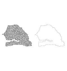 Dot contour map of senegal vector