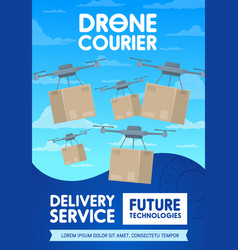 drone delivery and cargo shipping service vector image