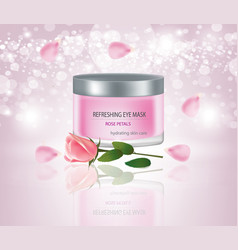 face mask with rose vector image