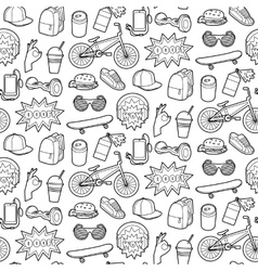 Fashion Patch Seamless Pattern vector image