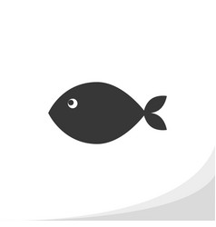 fish silhouette icon simple flat style print vector image