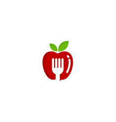 fork fruit logo icon design vector image
