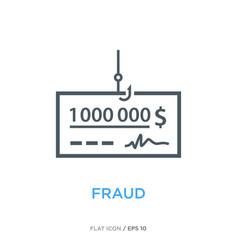 Fraud line flat icon ver 1 vector