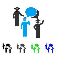 Gentlemen discussion flat icon vector