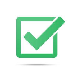 Green tick checkbox isolated vector