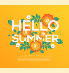 hello summer - modern colorful vector image