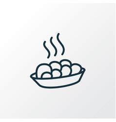 hot meal icon line symbol premium quality vector image