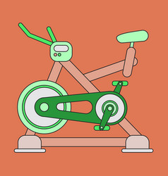 Icon in flat design bicycle exercise vector
