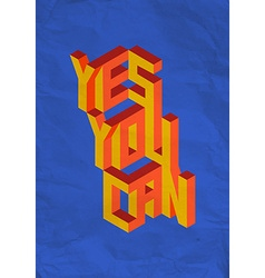 Isometric Yes you Can quote background vector