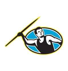 Javelin Throw Track and Field Athlete vector image