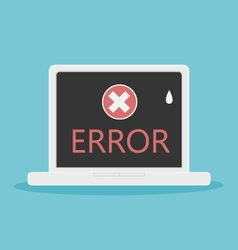 laptop error vector image