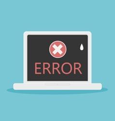 Laptop error vector