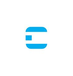 logo letter c blue stripes vector image