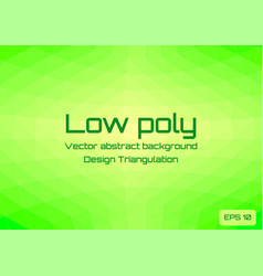 low poly green lime abstract background geometric vector image