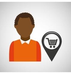 Market shop pin location man design vector